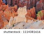 bryce canyon national park ... | Shutterstock . vector #1114381616