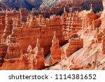 bryce canyon national park ... | Shutterstock . vector #1114381652