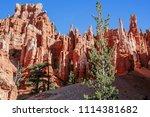 bryce canyon national park ... | Shutterstock . vector #1114381682