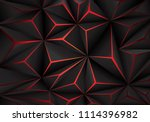abstract black polygon red... | Shutterstock .eps vector #1114396982