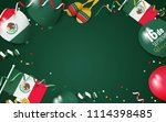 16 september mexico happy... | Shutterstock .eps vector #1114398485