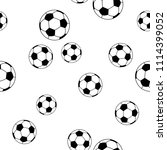seamless pattern football on... | Shutterstock .eps vector #1114399052