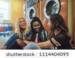 group of diverse young female... | Shutterstock . vector #1114404095