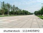 an empty floor in a city park | Shutterstock . vector #1114405892