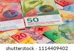 collection of the new swiss... | Shutterstock . vector #1114409402