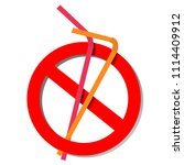 stop using plastic straws  stop ... | Shutterstock .eps vector #1114409912