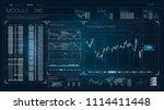 hud. hud. futuristic vector hud ... | Shutterstock .eps vector #1114411448