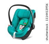 teal baby carrier isolated on... | Shutterstock . vector #1114413956