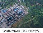 aluminum metallurgical plant... | Shutterstock . vector #1114416992