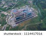 aluminum metallurgical plant... | Shutterstock . vector #1114417016