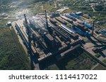 aluminum metallurgical plant... | Shutterstock . vector #1114417022