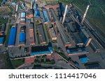 aluminum metallurgical plant... | Shutterstock . vector #1114417046