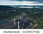 aluminum metallurgical plant... | Shutterstock . vector #1114417526