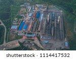 aluminum metallurgical plant... | Shutterstock . vector #1114417532