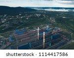 aluminum metallurgical plant... | Shutterstock . vector #1114417586