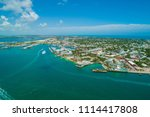 aerial drone photo of key west... | Shutterstock . vector #1114417808