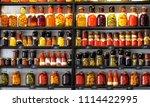variety glass jars of homemade...   Shutterstock . vector #1114422995