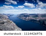 the norwegian lysefjord  a... | Shutterstock . vector #1114426976