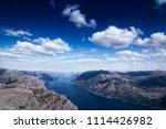 the norwegian lysefjord  a... | Shutterstock . vector #1114426982