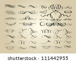 set of calligraphic swashes and ... | Shutterstock .eps vector #111442955