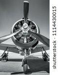 propeller of an sports plane | Shutterstock . vector #1114430015