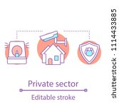 private sector concept icon.... | Shutterstock .eps vector #1114433885
