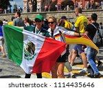 moscow  russia   june 17  fans... | Shutterstock . vector #1114435646
