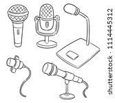 vector set of microphone | Shutterstock .eps vector #1114445312