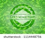gold membership green mosaic... | Shutterstock .eps vector #1114448756