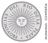 early argentinian silver coin... | Shutterstock .eps vector #1114456916