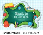 back to school banner design... | Shutterstock .eps vector #1114463075