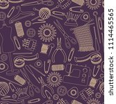 seamless pattern of tools for... | Shutterstock .eps vector #1114465565