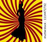 spanish girl silhouette over...   Shutterstock . vector #1114472732