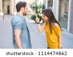 one man and a woman arguing on... | Shutterstock . vector #1114474862