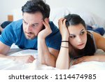 couple having problem and... | Shutterstock . vector #1114474985