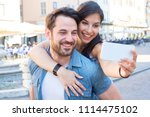 young happy couple taking a... | Shutterstock . vector #1114475102