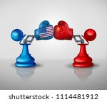 china united states trade war... | Shutterstock . vector #1114481912