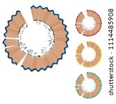 set of pencil shaving on... | Shutterstock .eps vector #1114485908