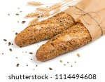 breads in paper with different... | Shutterstock . vector #1114494608