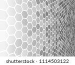 perspective grid hexagonal... | Shutterstock .eps vector #1114503122