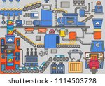 industrial processes. mechanism ... | Shutterstock .eps vector #1114503728