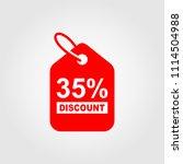 35  sale discount banner. sale... | Shutterstock .eps vector #1114504988