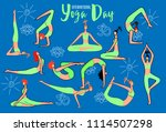 international day of yoga....   Shutterstock .eps vector #1114507298