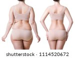woman's body before and after... | Shutterstock . vector #1114520672