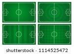vector of football pitch... | Shutterstock .eps vector #1114525472