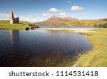 the ruins of ardvreck castle ... | Shutterstock . vector #1114531418
