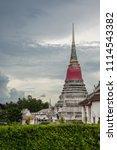 wat phra samut chedi temple ... | Shutterstock . vector #1114543382