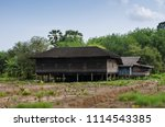 thai asian old wooden house  in ... | Shutterstock . vector #1114543385