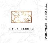 floral linear emblem. vector... | Shutterstock .eps vector #1114551662