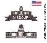 state of missouri. missouri... | Shutterstock .eps vector #1114561142